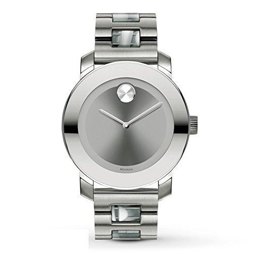 Movado Bold 3600109 Ion Plated Stainless Steel Case Grey Steel Bracelet Men's & Women's Watch