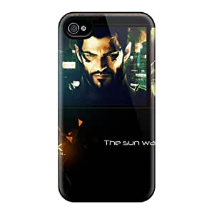 4/4s Scratch-proof Protection Case Cover For Iphone/ Hot Deus Ex Human Revolution 2011 Phone Case