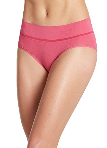 - Jockey Women's Underwear Natural Beauty Seamfree Hipster, Berry Bloom, 8