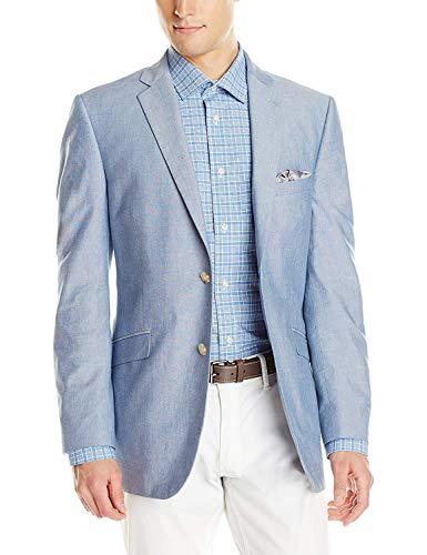 U.S. Polo Assn. Men's Chambray Sportcoat, RAM28-Medium Blue, 56 L - Chambray Coat