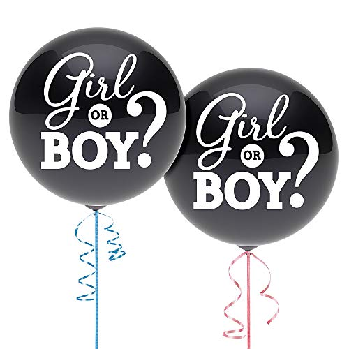 Party City Gender Reveal Confetti Balloon Supplies, Include a Pink Confetti Balloon, a Blue Confetti Balloon, and Ribbon]()