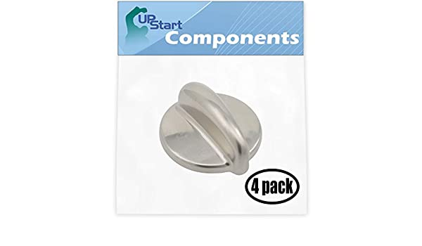 Stove 4 Pack Replacement Surface Burner Control WB03K10303 Range Oven Control Knob for General Electric PGB900SEM1SS Gas Range