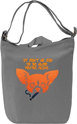 Quotes Borsa Giornaliera Canvas Canvas Day Bag| 100% Premium Cotton Canvas| DTG Printing|