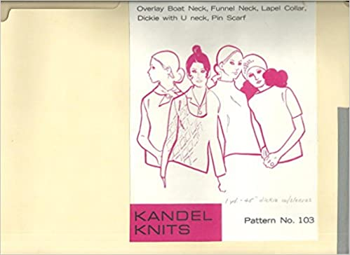 Kandel Knits Pattern 103 Overlay Neck Lines And Collars Scarf