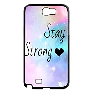 Samsung Galaxy Note 2 N7100 2D DIY Hard Back Durable Phone Case with Stay Strong Image