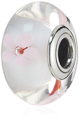 Pandora Charm 790947 Murano Glass Pink Cherry (14k Gold Murano Glass)