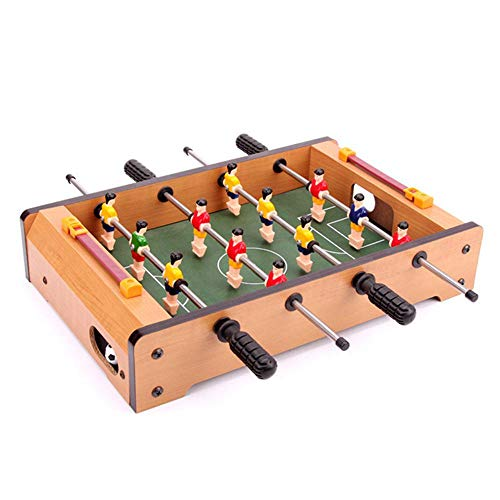 Tabletop Foosball Table,Deluxe Wooden Mini Table Top Foosball Game with 4 Soccer Balls for Game Rooms, Arcades, Bars, Family Night