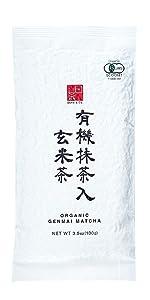 Ocha & Co. Organic Green Tea - Loose Leaf Japanese Genmaicha Tea - Genmai Matcha Roasted Brown Rice Blend - Premium Sencha Green Tea, 100g/3.5oz.
