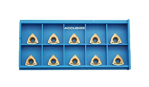 Accusize Tools - WCMT INSERTS, CARBIDE, TIN COATED, WCMT2.52, 10 PCS/SET #2139-1020x10 ()
