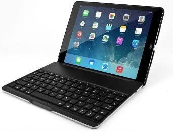 Funda con teclado en español (incluye letra Ñ) para Tablet Apple Ipad Air 2 (segunda generación) Color NEGRO + 2 Protectores de pantalla