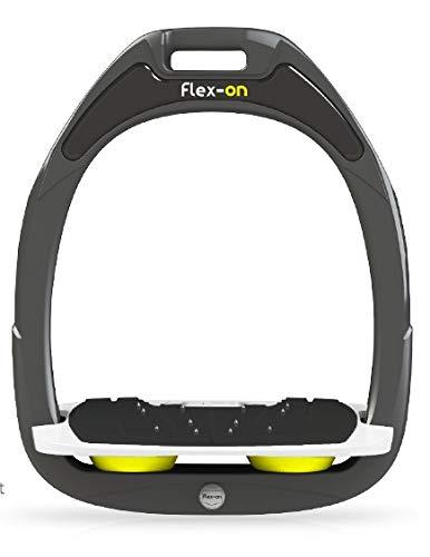 【 限定】フレクソン(Flex-On) 鐙 グリーンコンポジットレンジ Mixed ultra-grip フレームカラー: ダーク グレー フットベッドカラー: ホワイト エラストマー: イエロー 21985   B07KMQ2MM3