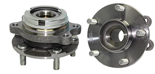 Detroit Axle - Both (2) Front Driver & Passenger Side Complete Wheel Hub & Bearing Assembly w/ABS for 2007-2012 Nissan Altima 2.5L - [2013 Altima Coupe 2.5L]