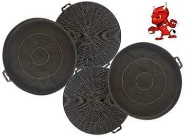 Mega set de 4 filtros de carbón activo filtro Filtro de carbón para campana Campana Balay 3bd794b, 3bd794 N, 3bd794 X: Amazon.es: Iluminación