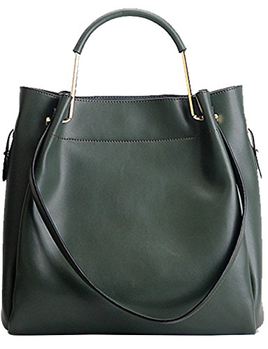 Menschwear Damen Echtes Leder Handtasche Elegant Taschen Gelb Grün
