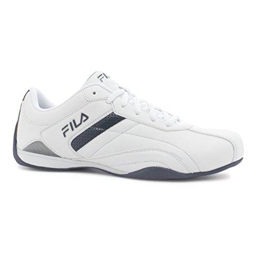 Fila Men's Kalien T Sneaker White, Fila Navy, Metallic Silver
