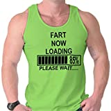 Fart Now Loading Funny Computer Humor Geek Tank Top Lime