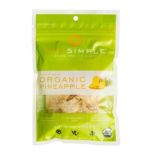 Sol Simple Organiz Dried Pineapple 1.5 oz, Pack of 8 ()