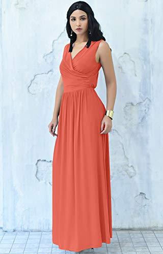 Koh Koh Plus Size Women Long Sleeveless Sexy Summer Semi Formal