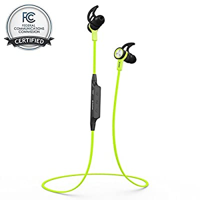 """Bluetooth Headset Headphones BHS-710 by phaiserâ""""¢ [Stereo Music] with LifeStateâ""""¢ Technology + BONUS **FREE Carrying Pouch** - Wireless Handsfree In Ear Earphones + Microphone with A2DP - Backed by 12 Months Warranty and Our Premium 100% Satisfaction Mo"""