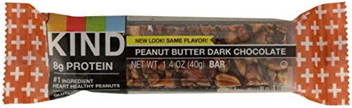 KIND Bars, Peanut Butter Dark Chocolate, Gluten Free, Low Sugar, 1.4 Ounce