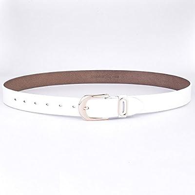 Talleffort Women's Jeans Genuine Cowhide Leather Belts Fashion Wide Belts for Women