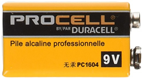 Duracell Procell Alkaline Batteries, 9V, 12/Box by Duracell