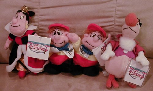 Disney's Queen of Hearts, Tweedle Dee , Tweedle Dum and Dodo From Alice in Wonderland by Disney