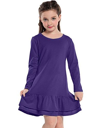 Ruffle Front Cotton Dress - 8