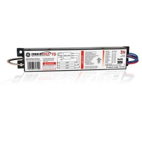 (Case of 10) GE Lighting 78623 GE332MAXP-N/ULTRA 120/277-Volt UltraMax Electronic Fluorescent T8 Multi-Volt Instant Start Ballast 3 or 2 F32T8 Lamps