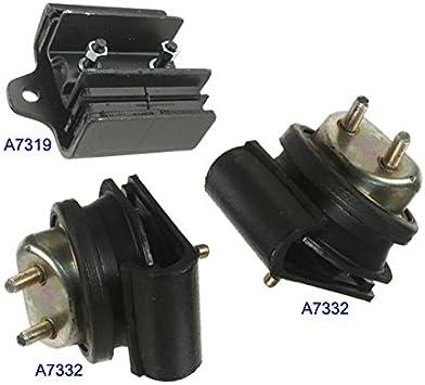 Engine Motor /& Trans Mount Set 3PCS 1999-2004 for Nissan Frontier// Xterra 3.3L