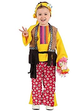 DISBACANAL Disfraz Hippie Bebe niña - Único, 2 años: Amazon.es ...