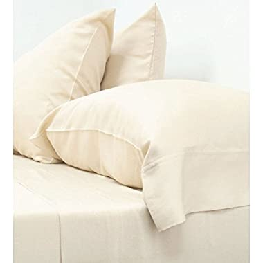 Cariloha Crazy Soft Classic King Sheets - 4 Piece Bed Sheet Set - 100% Viscose From Bamboo (King, Ivory)