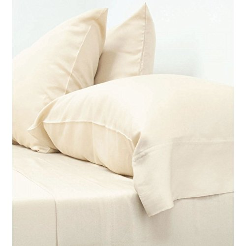 Classic Bamboo Sheets by Cariloha - 4 Piece Bed Sheet Set - Softest Bed Sheets and Pillow Cases - Lifetime Protection (Queen, Ivory)