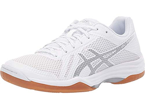 (ASICS Gel-Tactic 2 Womens Volleyball Shoes, White/Silver, Size 11)
