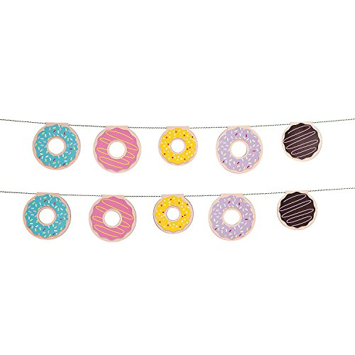 Fun Express - Donut Party Garland for Birthday - Party Decor - Hanging Decor - Garland - Birthday - 1 Piece ()