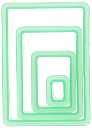 American Crafts 374082 4 Piece Sweet Sugarbelle Nested Rectangle Cookie Cutter
