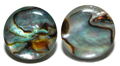 Natural Abalone Shell Earrings - NATURAL ABALONE SHELL STUD EARRINGS 4MM (S088a)