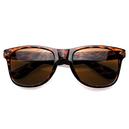 Sol Con De Eyewear® De Tortuga Marrón Estilo Montura Emblem Gafas De Las Cuerno Premium IHvqwYw