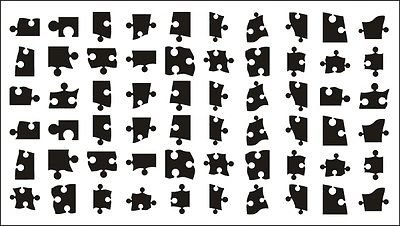 e80d02e4c326b 60 Jigsaw Puzzle Nail Art Tattoo Transfer Stickers: Amazon.co.uk ...
