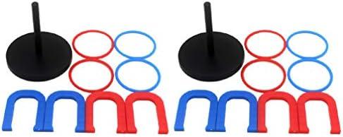 NUOBESTY リングトスゲームプラスチック円形投げリングゲーム用品用屋外幼稚園子供18ピース