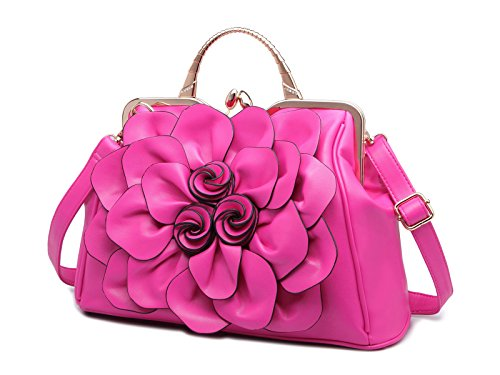 PU Trendstar Cuir Bandouliere KAXIDY Bandoulière Sac Rose Fleurs Main Sac Femme Sac élégant Satchel à a à rouge Sac xtqOw0wYFg