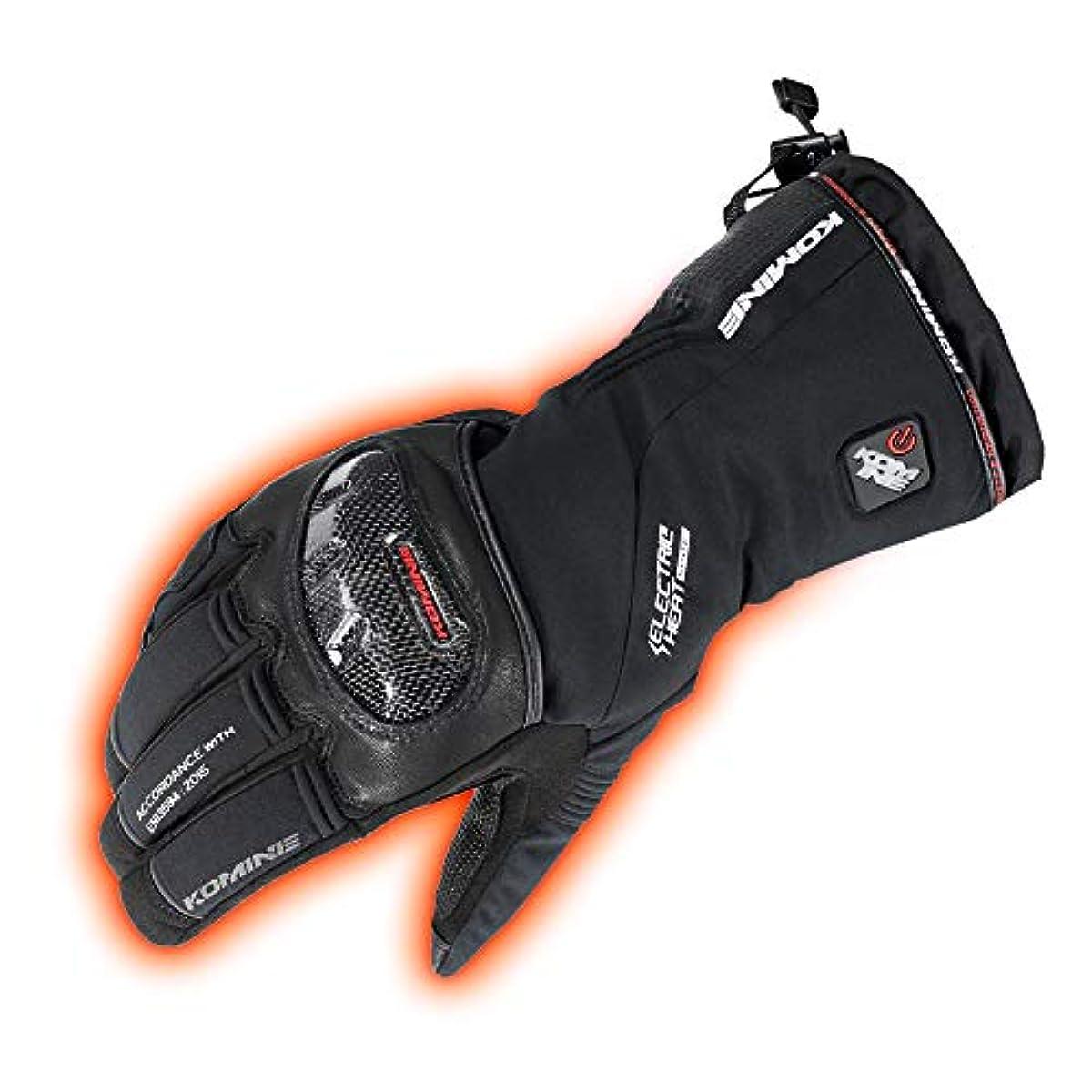 [해외] 코미네(KOMINE) 오토바이 카본 프로 테크 도에레쿠토릿쿠글로브 장갑 전열 발열 방한 BLACK XL 08-200