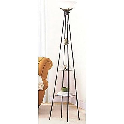 Mainstays etagere floor lamp amazon mainstays etagere floor lamp aloadofball Image collections