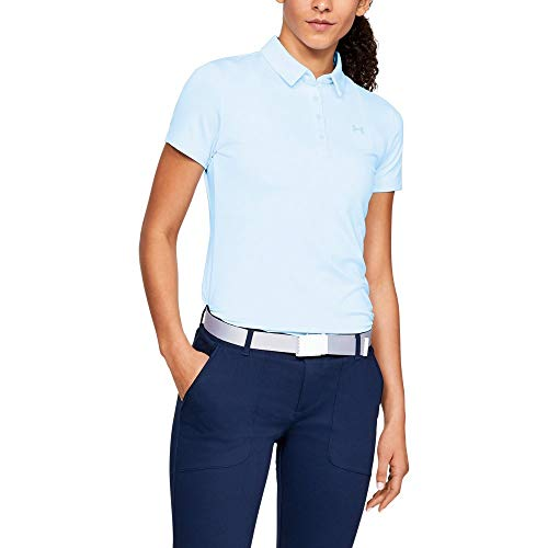 Under Armour Womens Zinger Short Sleeve Golf Polo, Coded Blue (451)/Coded Blue, -