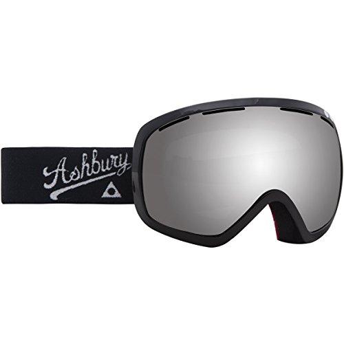 Ashbury Bullet Snow Goggles Black Script With Silver Chrome & Yellow - Ashbury Ski