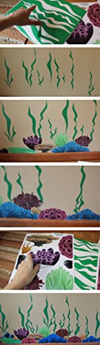Create-A-Mural Coral & Seaweed, Ocean Wall Decals, Undersea Wall Decor Stickers for Kids Room ~ (34) Sea Wall Stickers by Create-A-Mural (Image #4)
