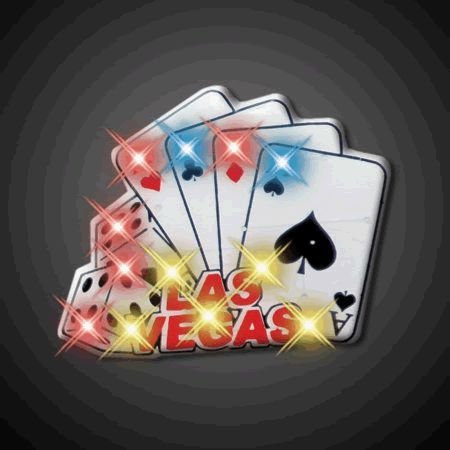 blinkee Vegas Cards and Dice Flashing Body Light Lapel Pins by