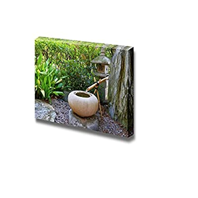 Majestic Creative Design, Beautiful Scenery Landscape Japanese Garden in Monte Carlo Monaco Wall Decor, Original Creation