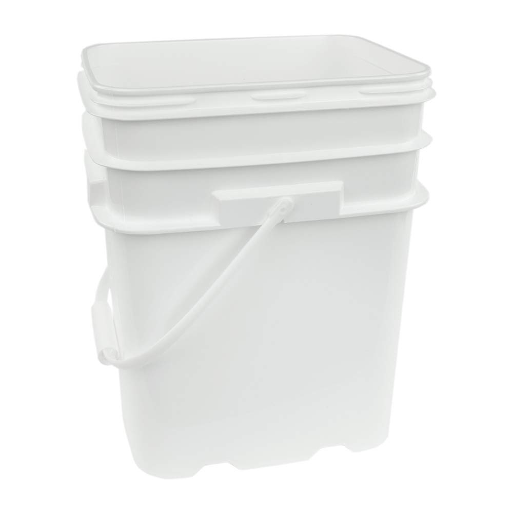 5.3 Gallon White EZ Stor Pail with Handle (Lids Sold Seperately)