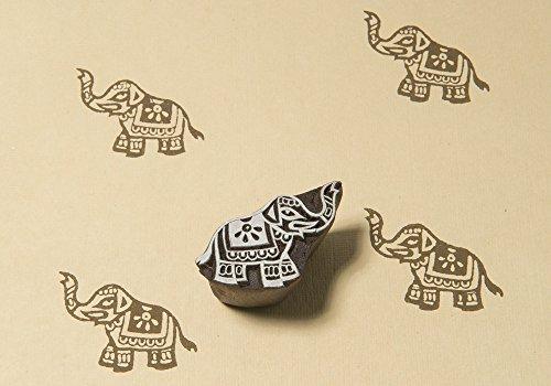Blockwallah Little Elephant Wooden Block Stamp
